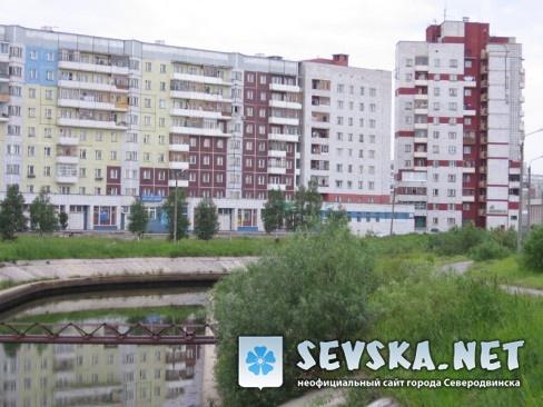 Северодвинск. Канал на ул. Лебедева