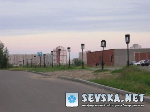 Северодвинск. Дорожка у драмтеатра