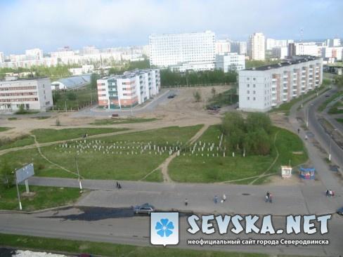 Северодвинск с крыши Пр. Морской 68 2